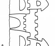 Coloring pages A beautiful Sand Castle
