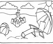 Free coloring and drawings Colorful Sand Castle Coloring page
