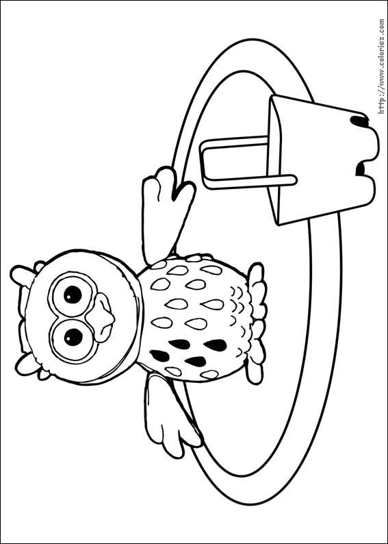 Free coloring and drawings Owl on vacation Coloring page