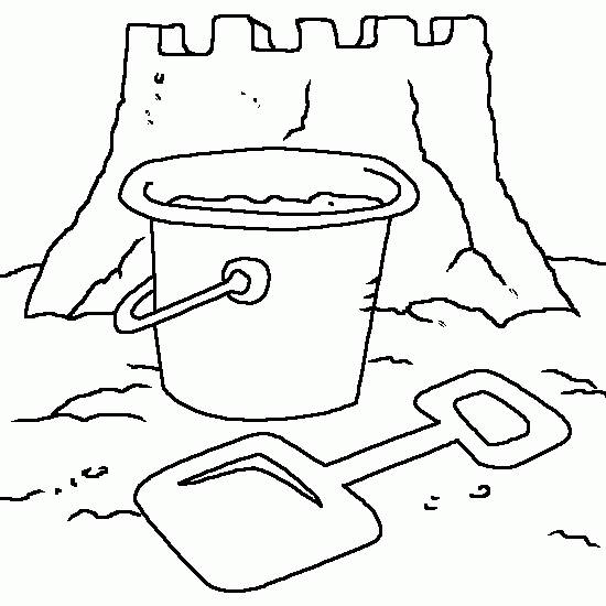Free coloring and drawings Sable Castle and The Bucket Coloring page