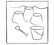 Free coloring and drawings Sand Castle on vacation Coloring page