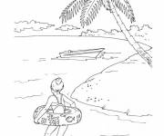 Coloring pages Sea Beach