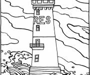 Coloring pages Sea Lighthouse