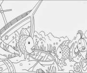 Free coloring and drawings Seabed and Boats Coloring page