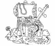 Coloring pages Seabed and the Treasure