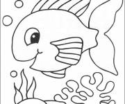Free coloring and drawings Seabed Fish to color Coloring page