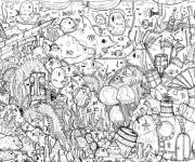 Coloring pages Seabed full of life