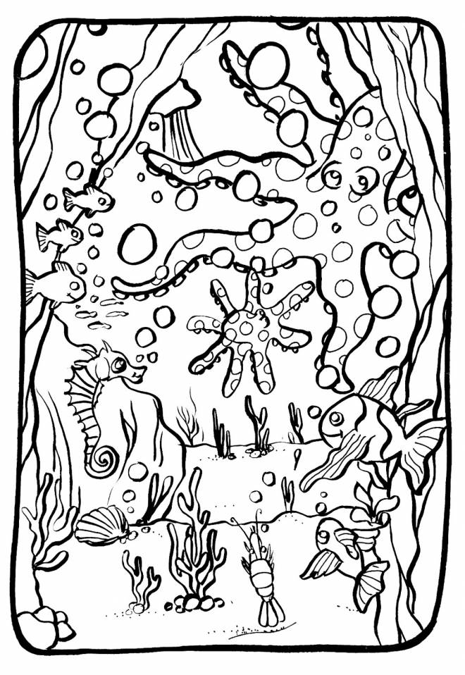Free coloring and drawings The beauty of the seabed Coloring page