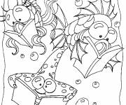 Coloring pages The fish that read