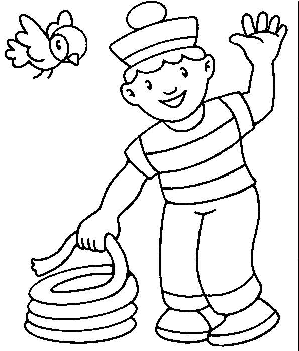 Free coloring and drawings The Little Sailor Coloring page