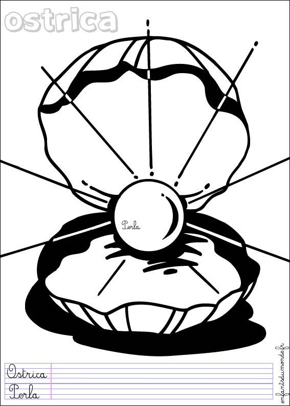 Free coloring and drawings The sailor Fund Oyster Coloring page