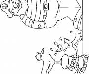 Coloring pages The sailor in color