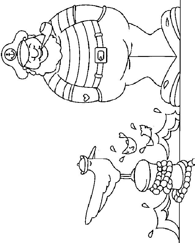 Free coloring and drawings The sailor in color Coloring page
