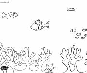 Coloring pages Underwater background