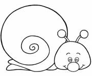Free coloring and drawings Cute snail Coloring page