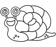 Coloring pages Easy to decorate snail