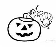 Coloring pages Escort the Halloween