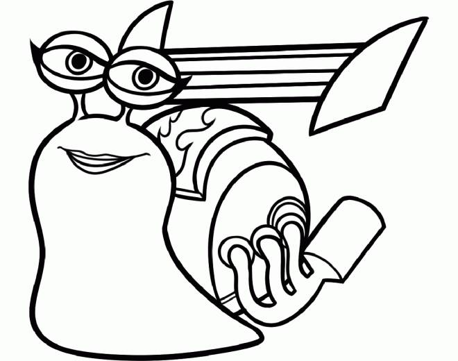 Free coloring and drawings Fast snail Coloring page