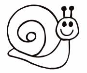Coloring pages Happy snail
