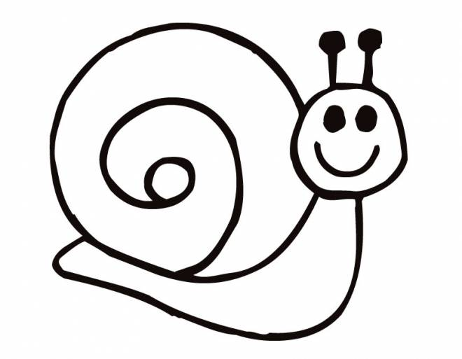 Free coloring and drawings Happy snail Coloring page