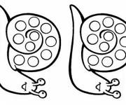 Coloring pages Identical snails