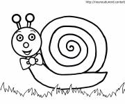 Free coloring and drawings Knot snail Coloring page