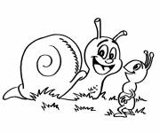Coloring pages Outdoor snail