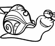 Coloring pages Racing snail