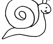 Coloring pages Simple snail to color