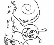 Free coloring and drawings Snail and the Ant Coloring page