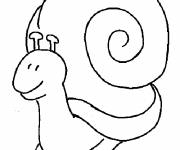 Coloring pages Snail with his big house