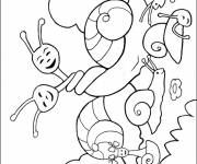 Coloring pages Snails in love
