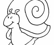 Coloring pages Stylized content snail