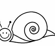 Coloring pages Stylized simple snail