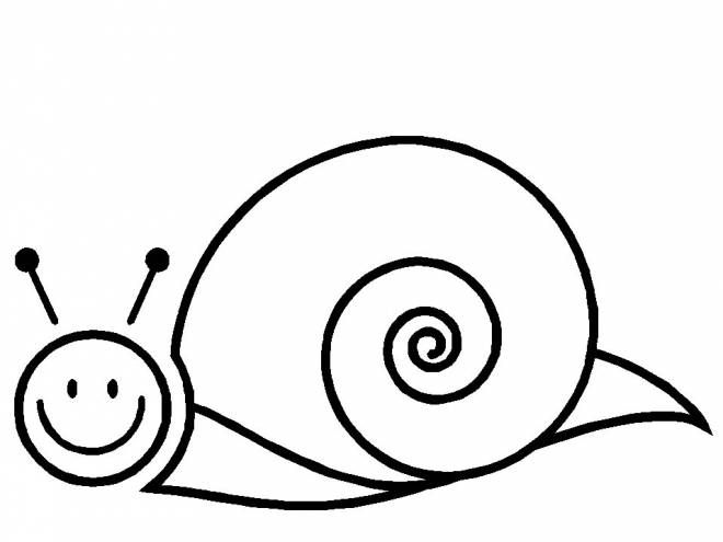 Free coloring and drawings Stylized simple snail Coloring page