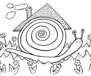 Coloring pages The house of the Snail
