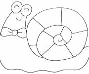 Coloring pages Very happy snail