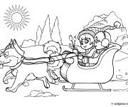 Free coloring and drawings Children and their dogs Coloring page