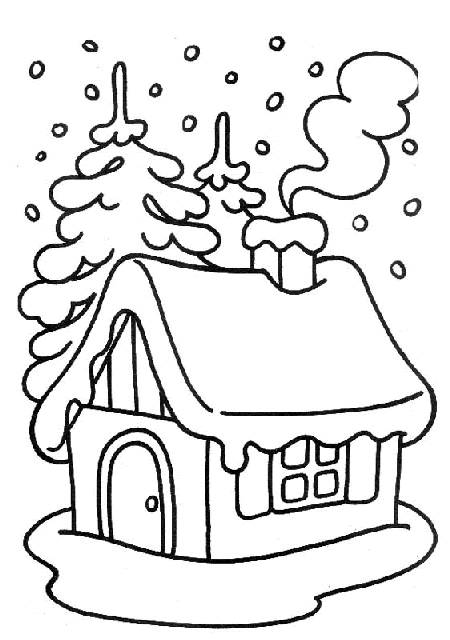 Free coloring and drawings Snow Landscape 8 Coloring page