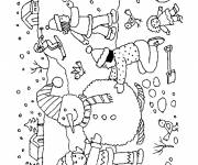 Free coloring and drawings Winter in color Coloring page