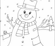 Free coloring and drawings Winter Snow Coloring page