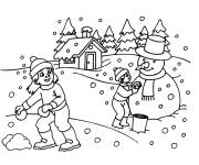 Free coloring and drawings Winter Snow 5 Coloring page