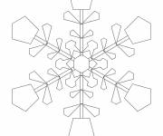 Coloring pages A brilliant Snowflake