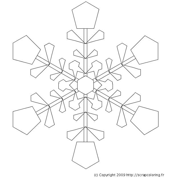 Free coloring and drawings A brilliant Snowflake Coloring page