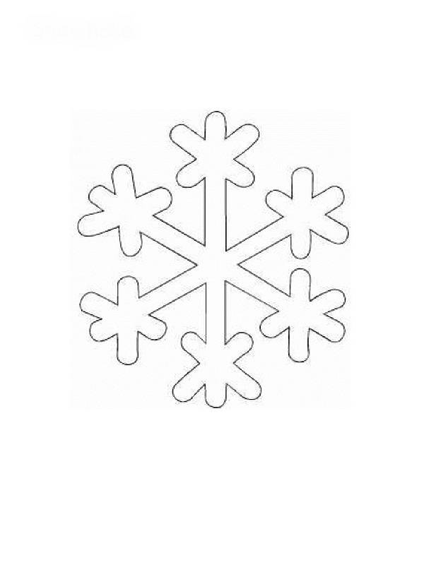 Free coloring and drawings Christmas snowflake Coloring page