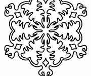 Coloring pages Christmas Snowflake to color