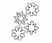 Free coloring and drawings Color Snowflake Coloring page