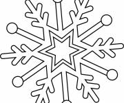Free coloring and drawings Easy Snowflake Coloring page