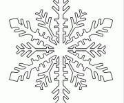 Coloring pages Easy to color snowflake