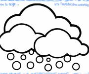 Coloring pages Falling snow